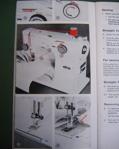 Elna sp st su Sewing Machine Instruction Manual sewing machines Interesting Elna Special Sewing Machine Manual