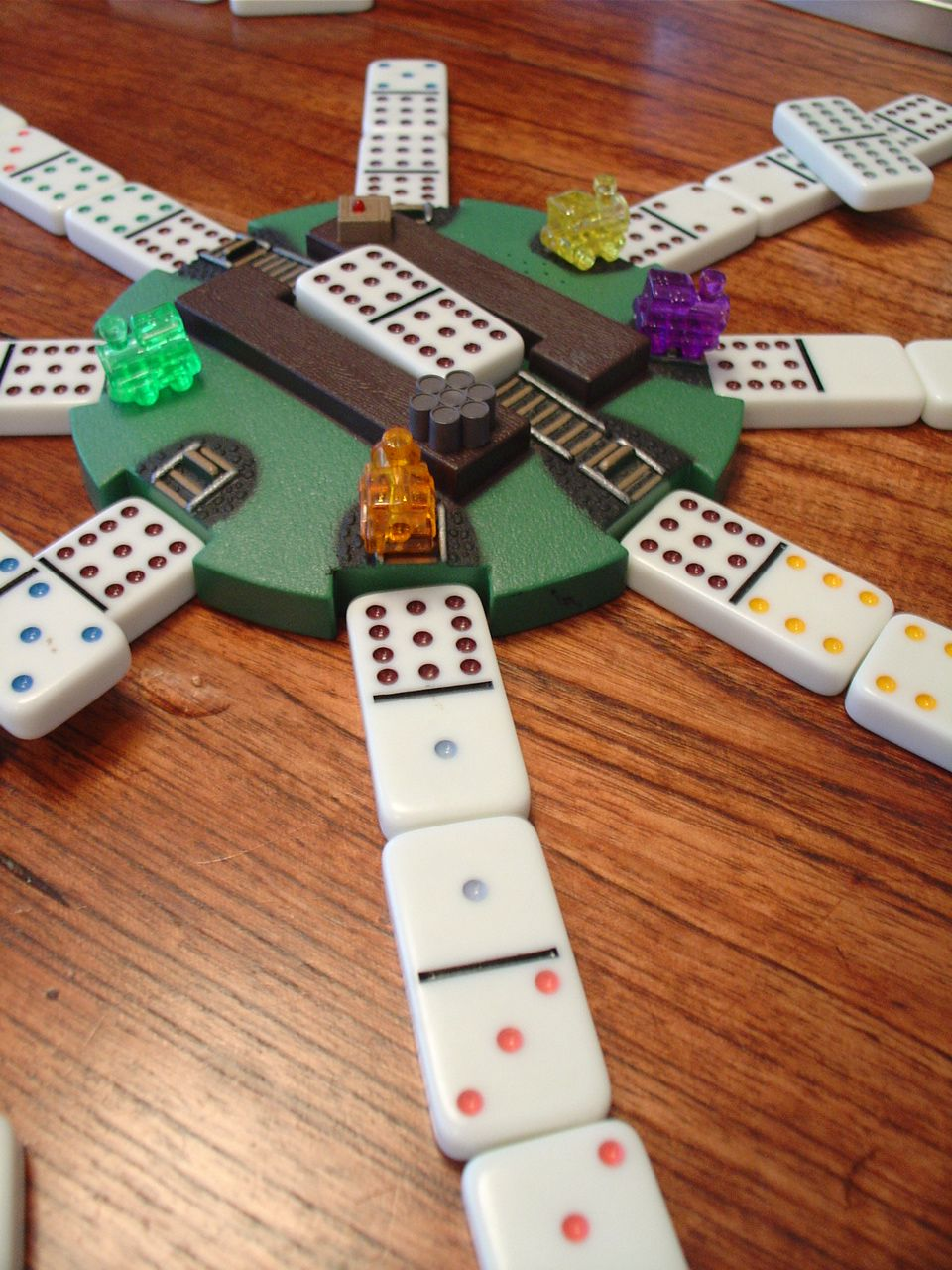Love playing mexican train with the family camping games