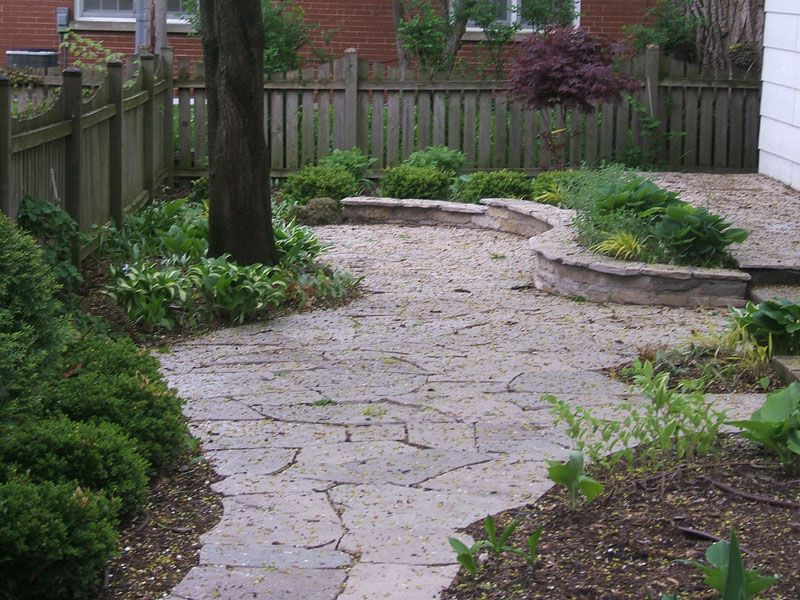 Stone Patio With Irregular/natural Edge