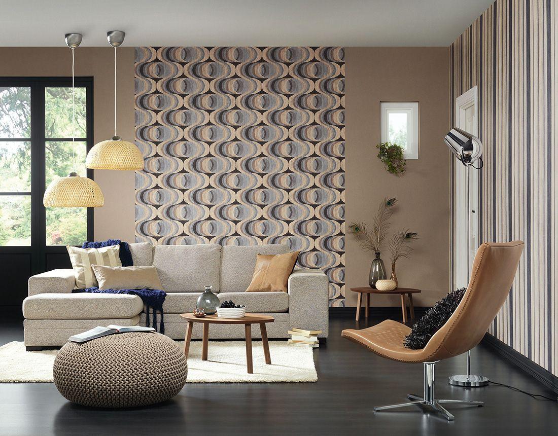 a s cr ation tapete 940133 simuliert auf der wand idejas maajai tapeten wohnzimmer. Black Bedroom Furniture Sets. Home Design Ideas