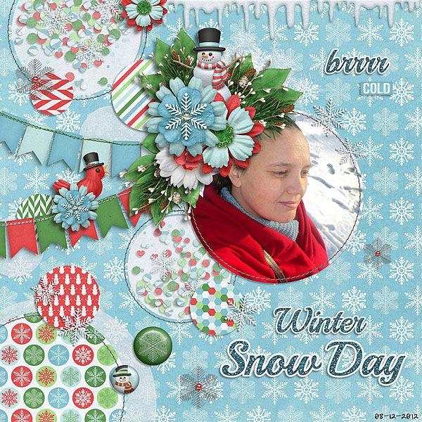 Digital Scrapbook Kit - Snowman | Kristin Aagard