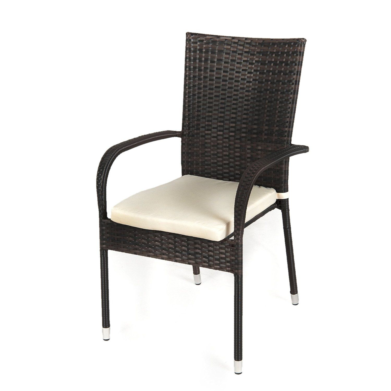 Greenfingers Jersey Rattan Chair Brown Black Amazon Co Uk Garden
