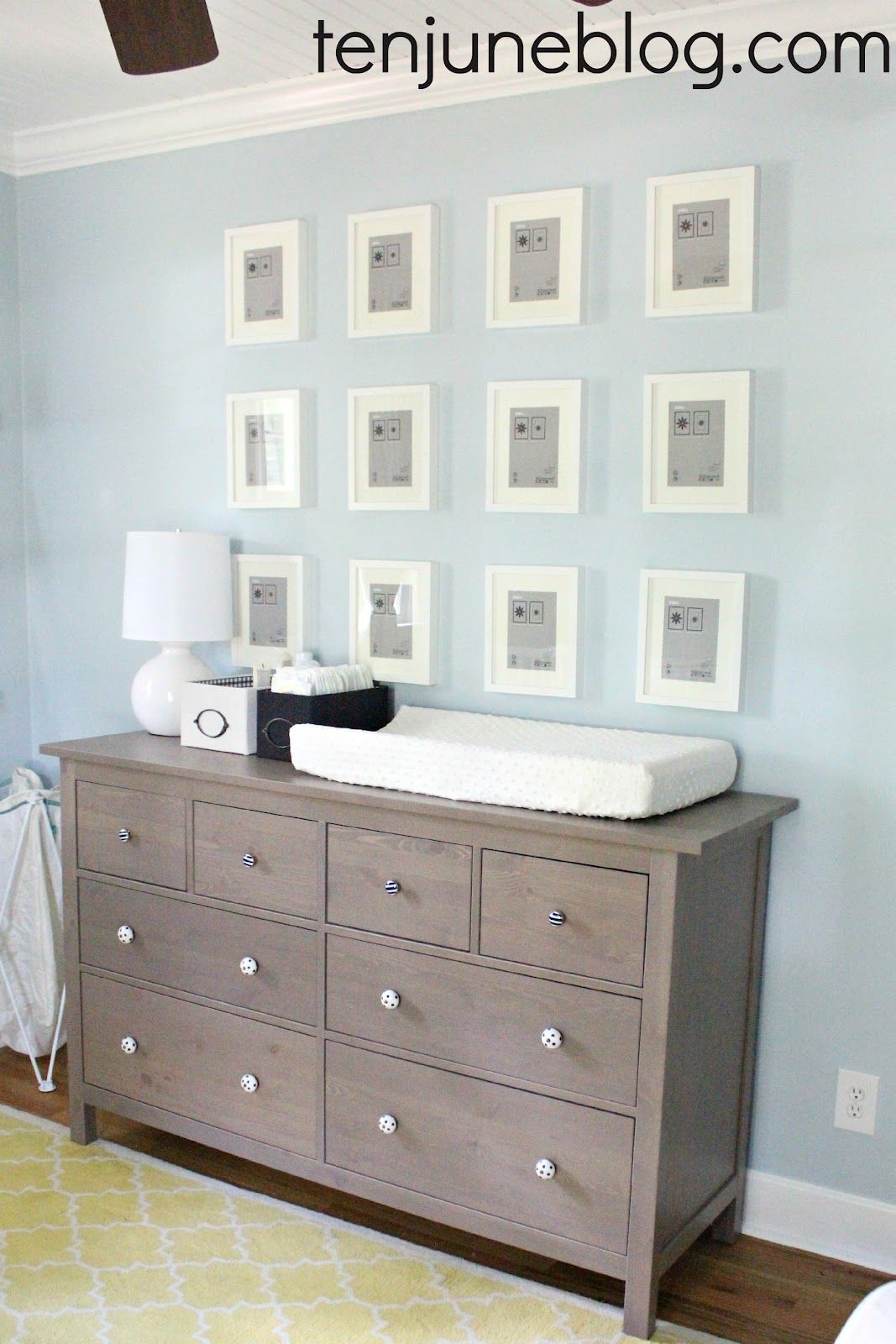 Ten June Nursery Update Ikea Dresser Turned Changing Table Station Land Of Nod