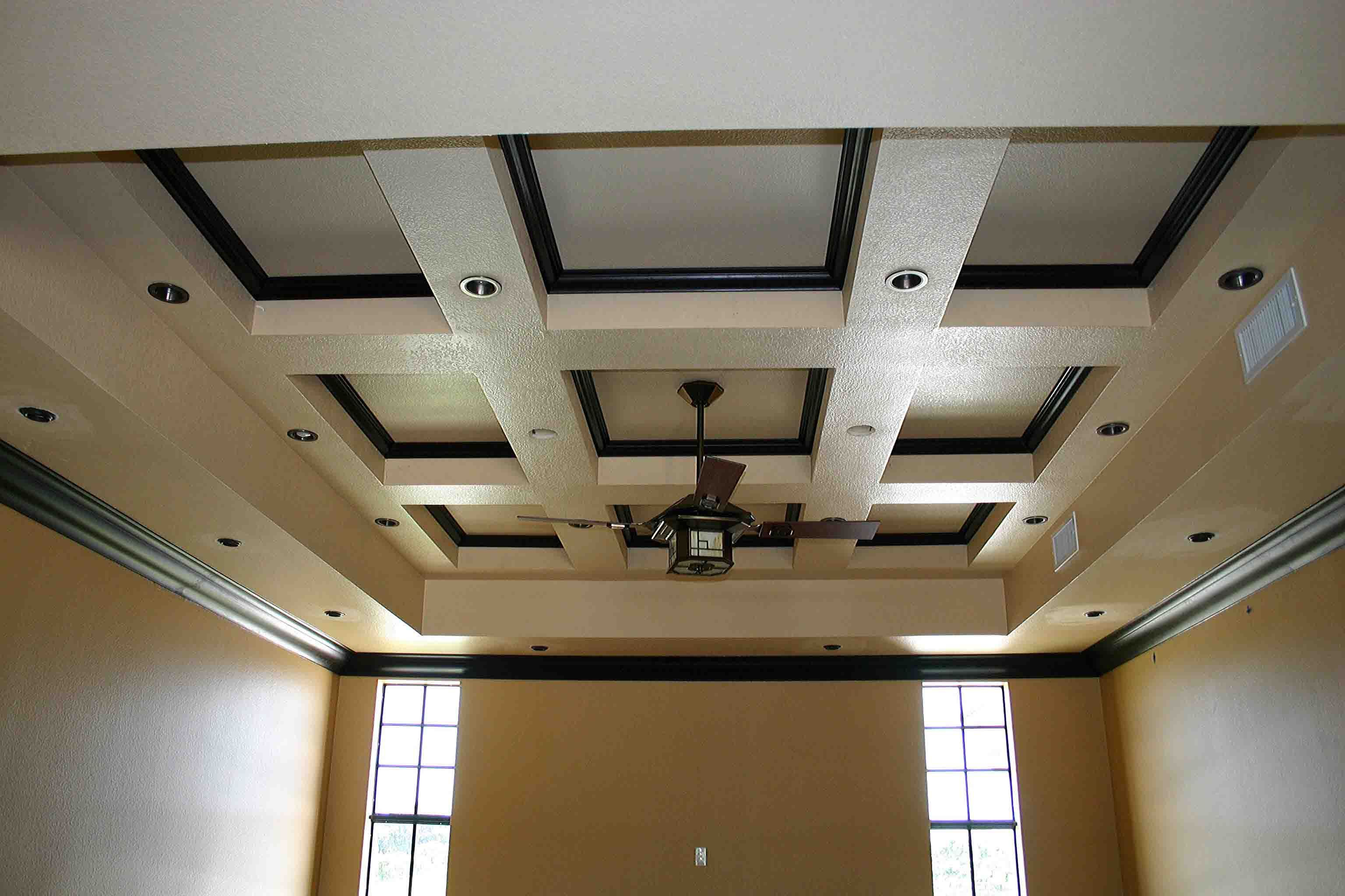 Stunning Coffered Ceiling For Charming Ceiling Ideas