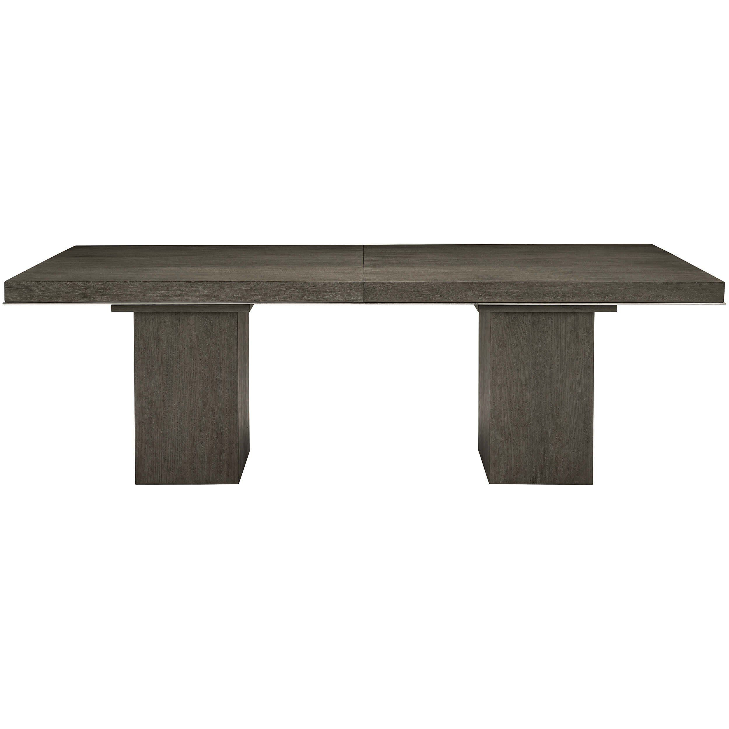 Linea Rectangular Dining Table Cerused Charcoal With Images