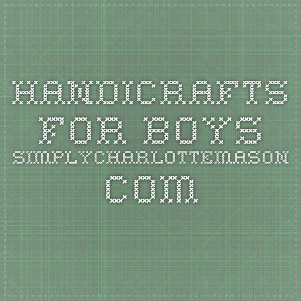Handicrafts For Boys Boycrafts For Reading Time Pinterest