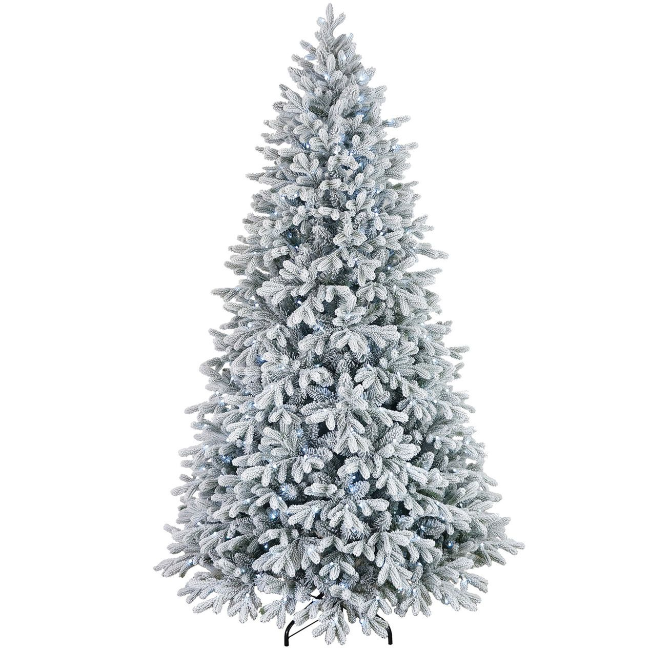 D26 7.5ft Pre-Lit Collin Flocked Christmas Tree | At Home ...
