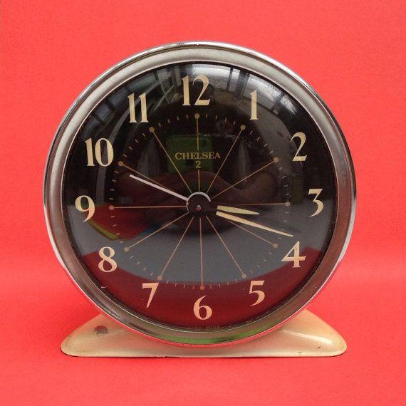 Chelsea Cream Wind Up Alarm Clock With Glow In The Dark