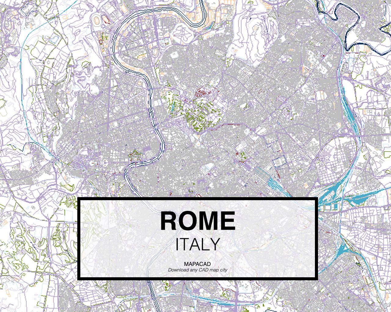 Rome Italy Download CAD Map City In Dwg Ready To Use In - Rome map download