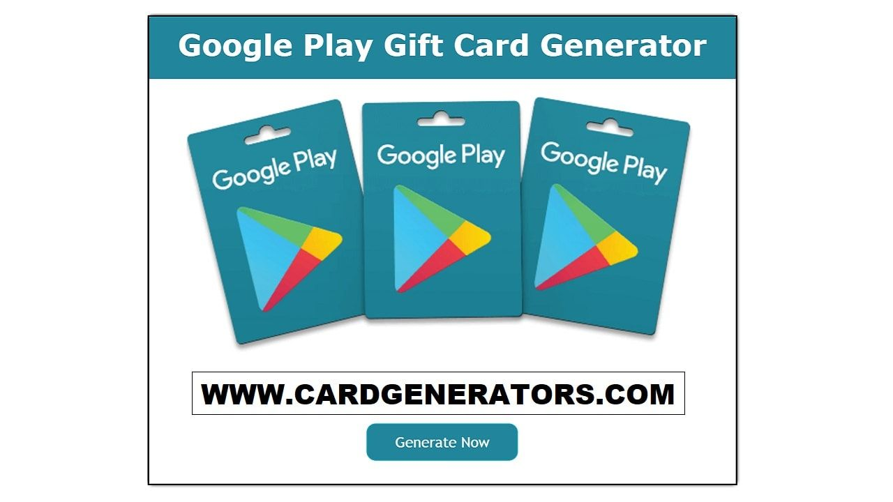 Google Play Gift Card Generator will help you to generate