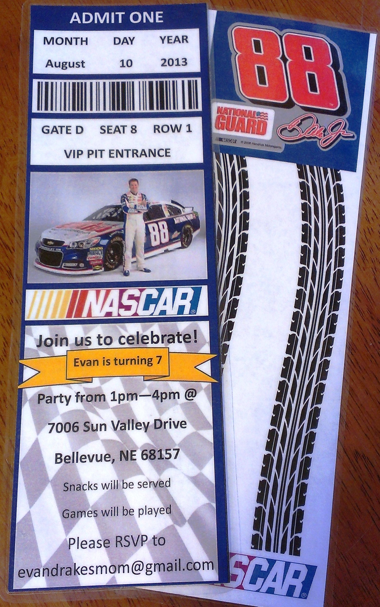 Nascar birthday party invitations nascar pinterest nascar nascar birthday party invitations filmwisefo Choice Image