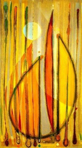 Floral Forms with Sun, 1958 - Tihamer Gyarmathy