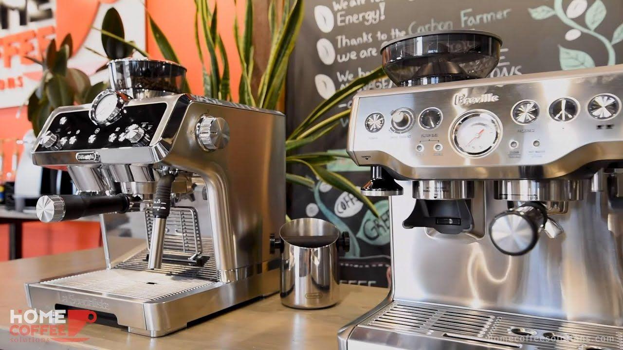 افضل مكائن القهوة ديلونجي بريفيل باريستا اكسبرس ضد نيو ديلونجي لا سبيسيليستا مراجعة الجهاز والمقارنة Coffee Espresso Machine Kitchen Appliances