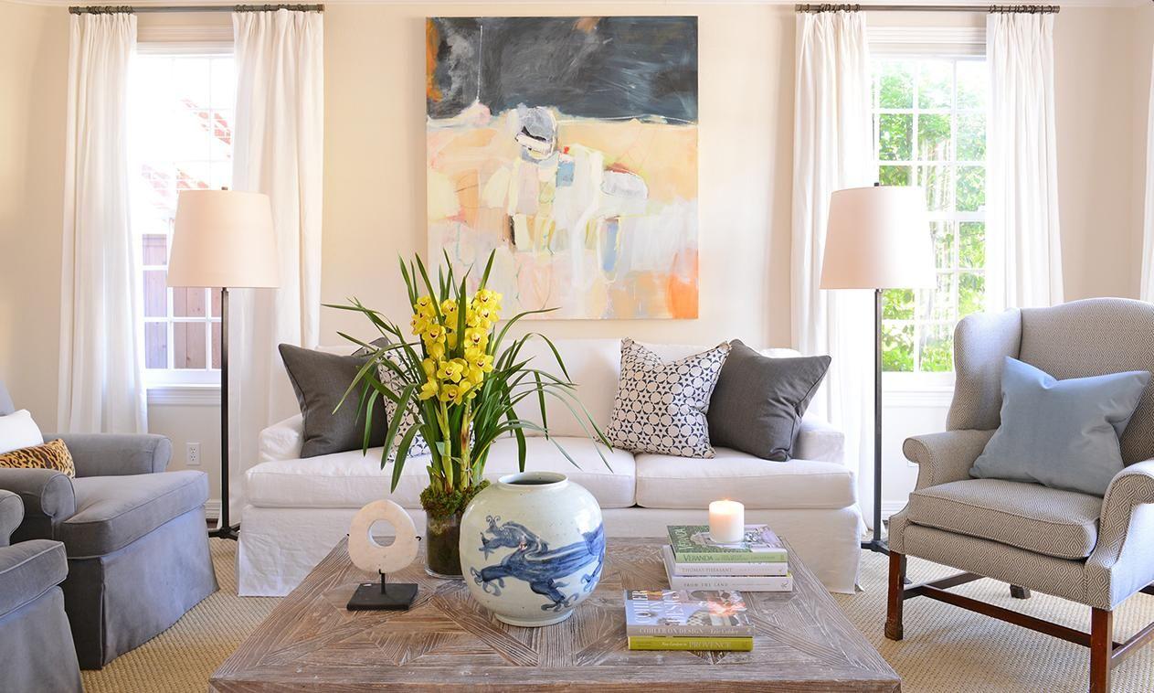 Houston Residence Interior Design By Ashley Goforth Design Photography By Michael Hunter Parish Fl Family Room Design Floor Lamps Living Room Room Design