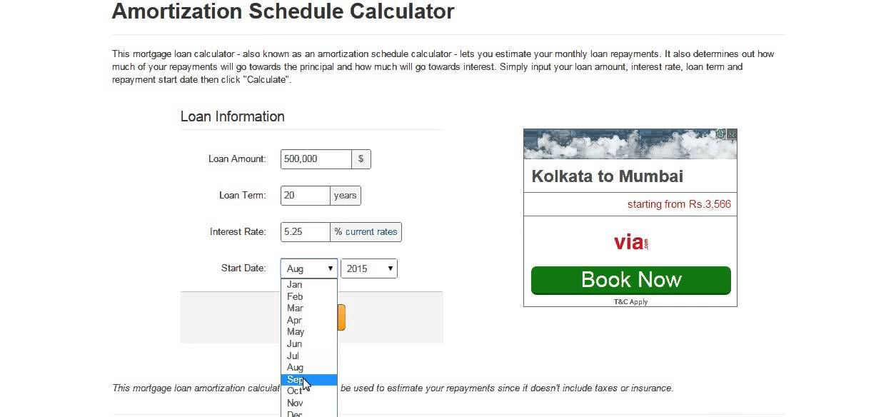 Mortgage Amortization Schedule Calculator | Quick Personal Bank