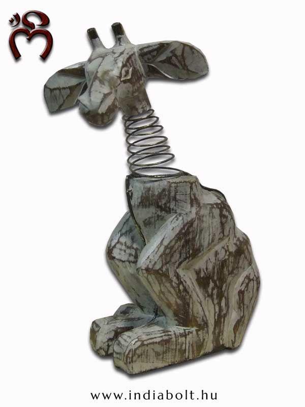 #namaste Különleges egyedi kézimunka, #antikolt kopott-szerű festéssel, fémrugós kialakításű díszítéssel, #zsiráfbébi puha illatos fából.  -giraffe-   www.indiabolt.hu ॐ