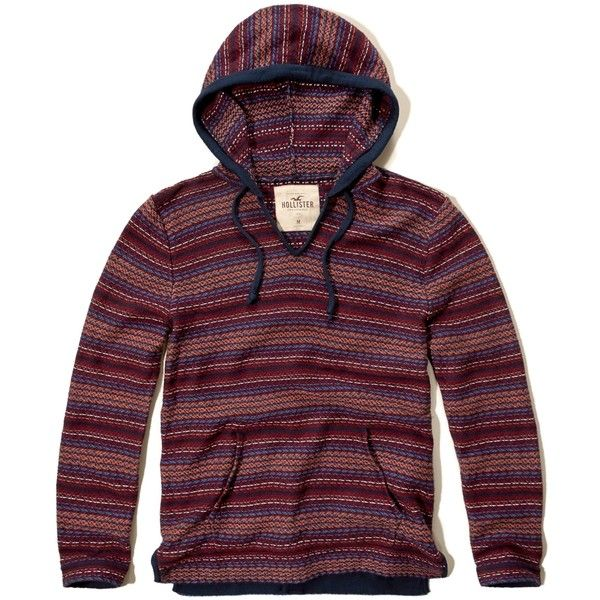 Hollister Baja Sweater Hoodie ($22) ❤ liked on Polyvore featuring ...