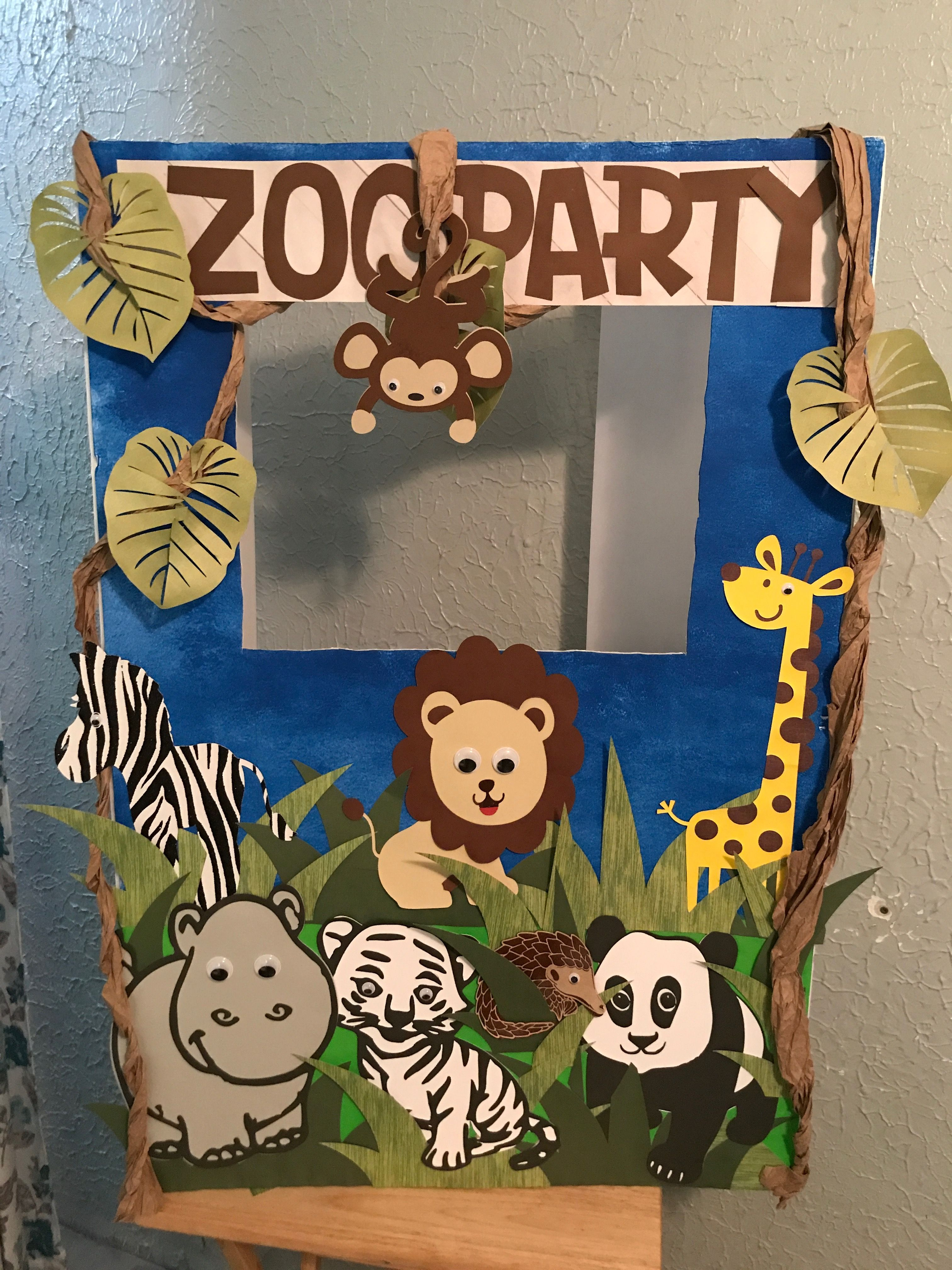 Photo booth for animal, safari or zoo party Zoo party