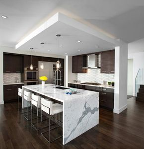 waterfall countertops -- a trend? - Kitchens Forum ...