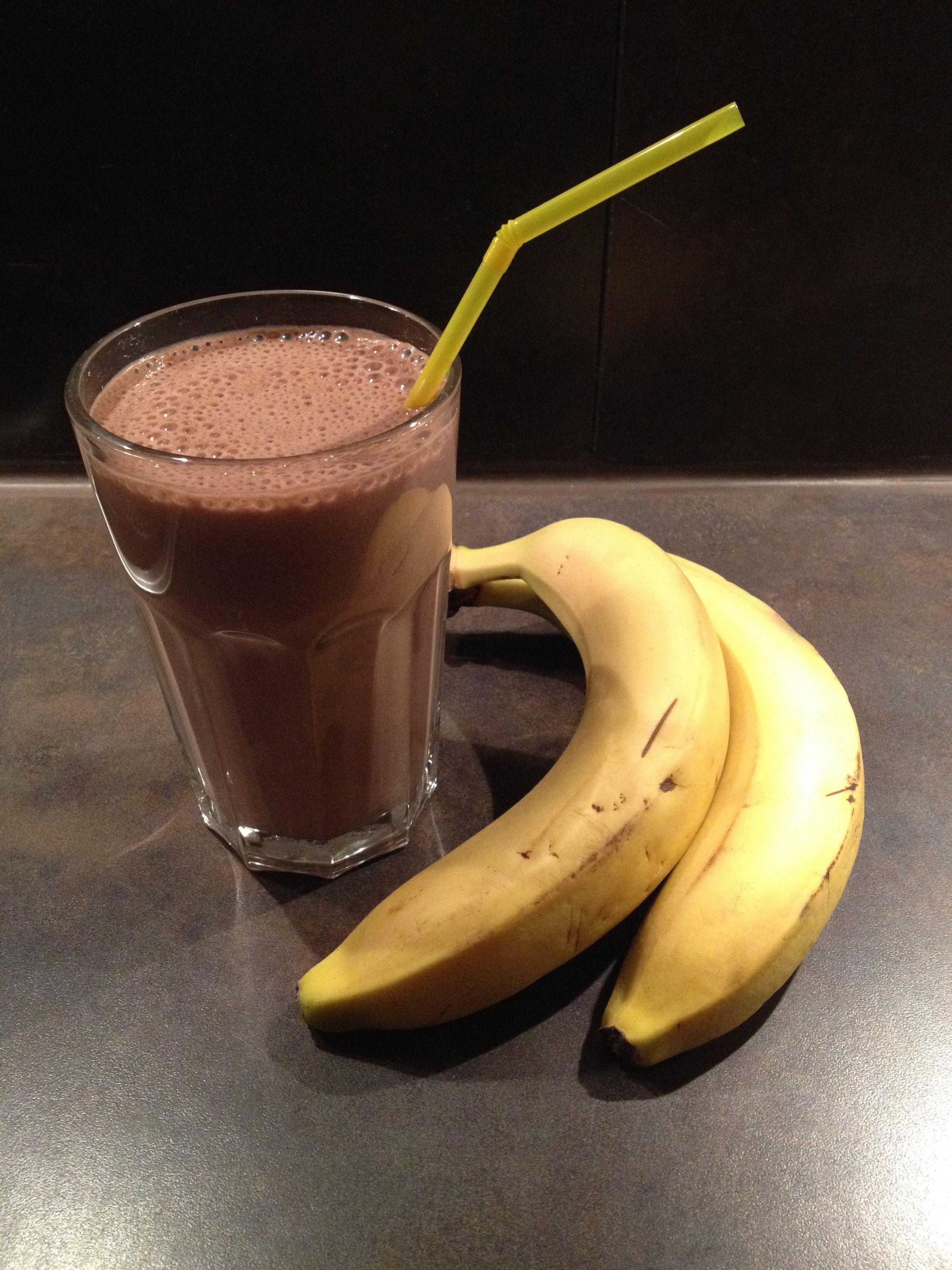 Bananen-Schoko-Milchshake - Herdgeflüster