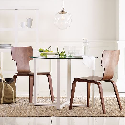 Stackable Dining Chair, Walnut | Pinterest | Stackable chairs ...