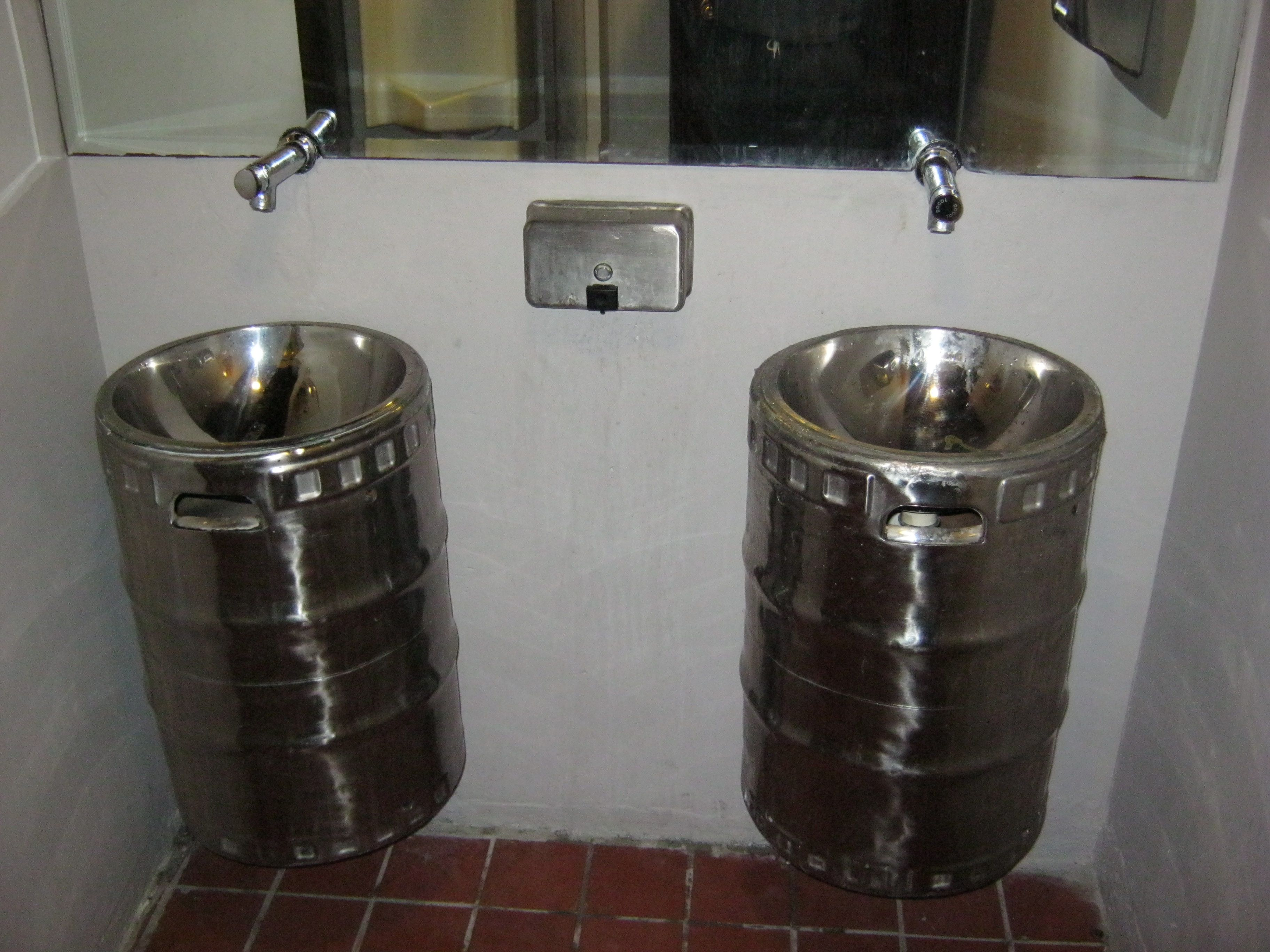 Charmant Beer Kegs For Sinks. How Cool Is That? This Picture Was Taken From  Cerveceria La Rana Dorada   Casco Viejo.