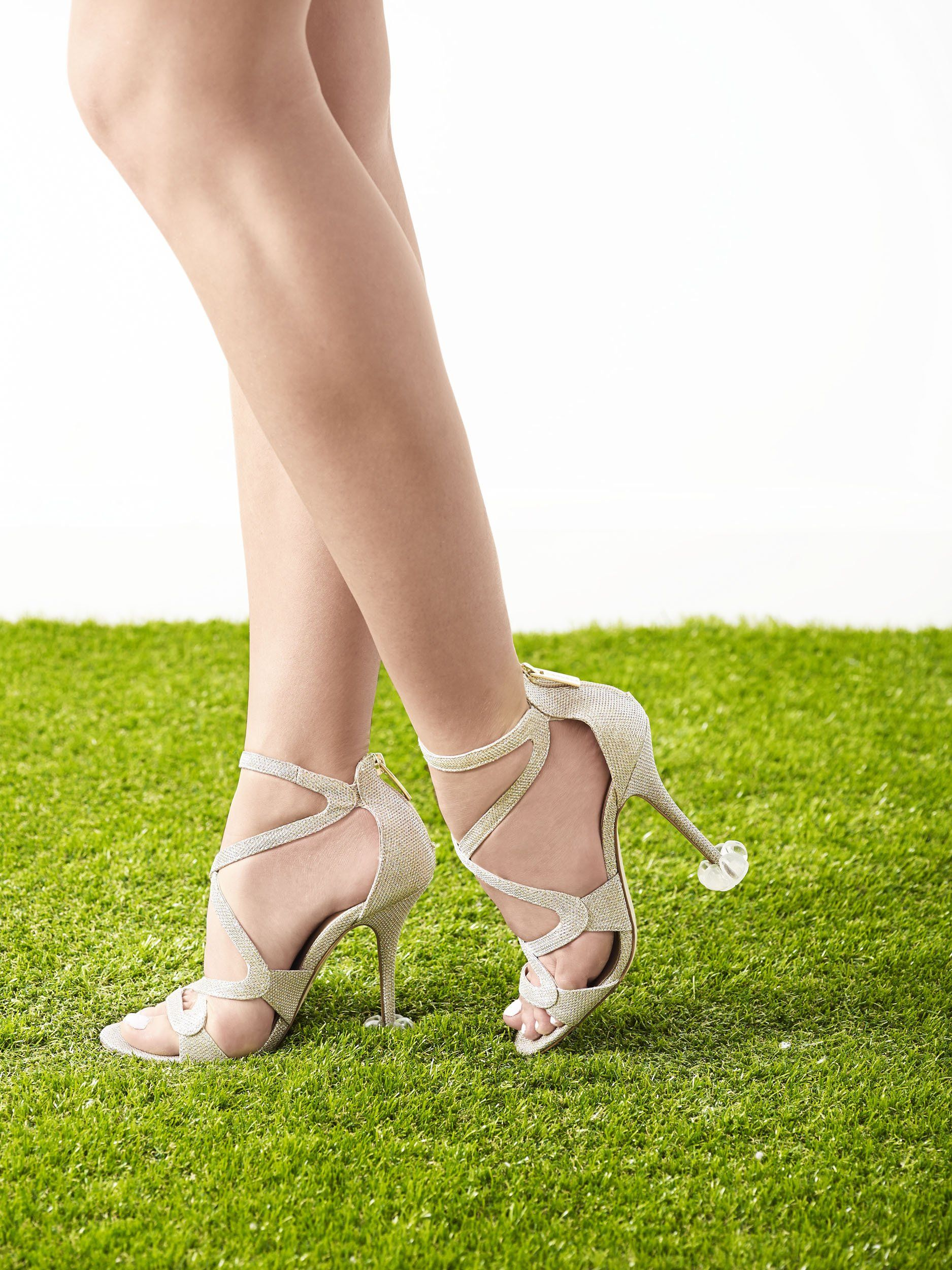 6250581dc4f Crystal Clear High Heel Protectors - Stops Your Heels Sinking in Grass -  Free Carry Pouch