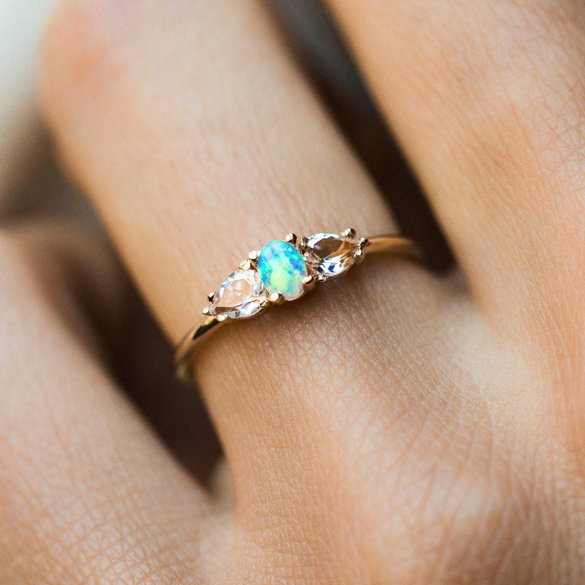 2CT Blue Sapphire Engagement Ring Set Floral Vintage