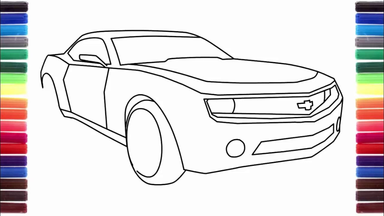 How To Draw A Car Tesla Model S Nissan GTR Chevrolet Camaro