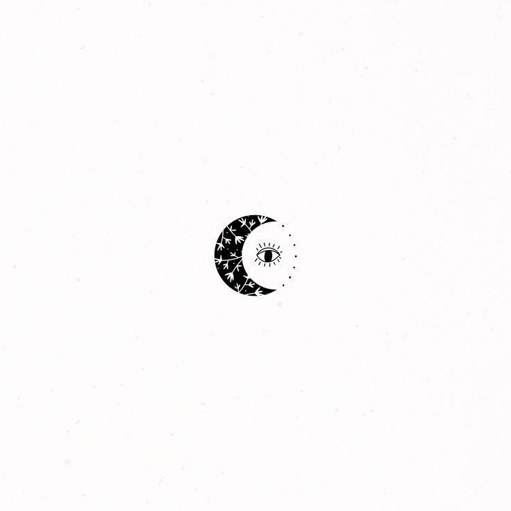Moon Third Eye Decoration Magic Illustration Doodle Drawing Design Logos Premade Third Eye Tattoos Evil Eye Tattoo Moon Tattoo