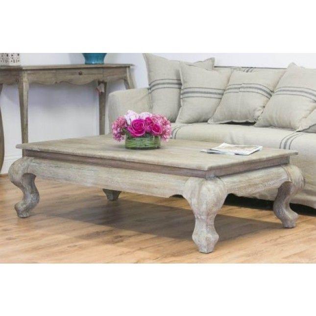 Perfect American Oak Grey Wash Coffee Table