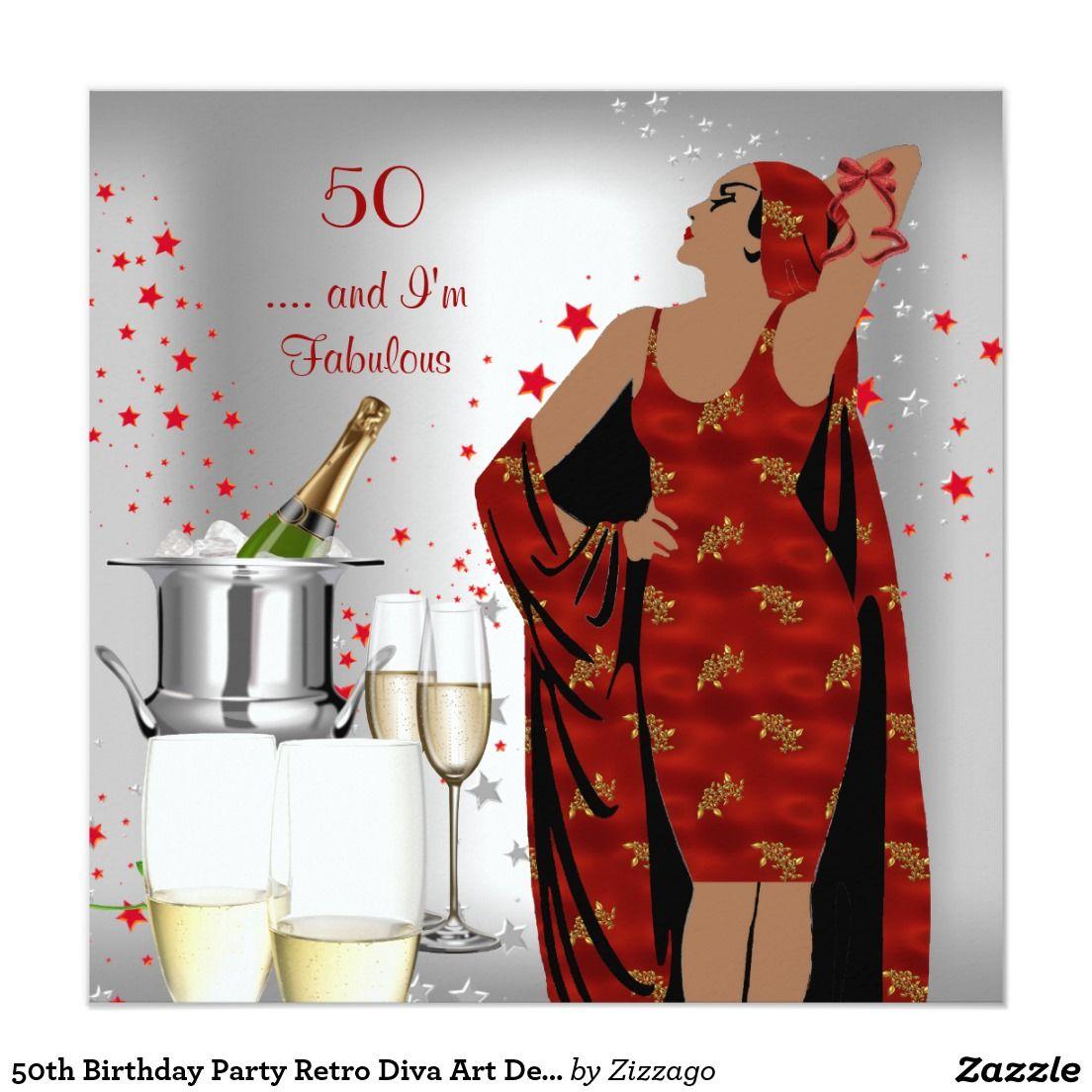 50. Geburtstags Party Retro Karte