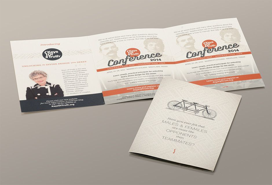 keys of truth tri fold 6 panel brochure with perforated panel