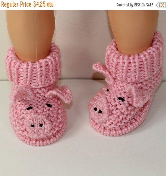 HALF PRICE SALE Instant Digital File pdf download knitting pattern Toddler Piggy Boots knitting pattern #vestidosparabebédeganchillo