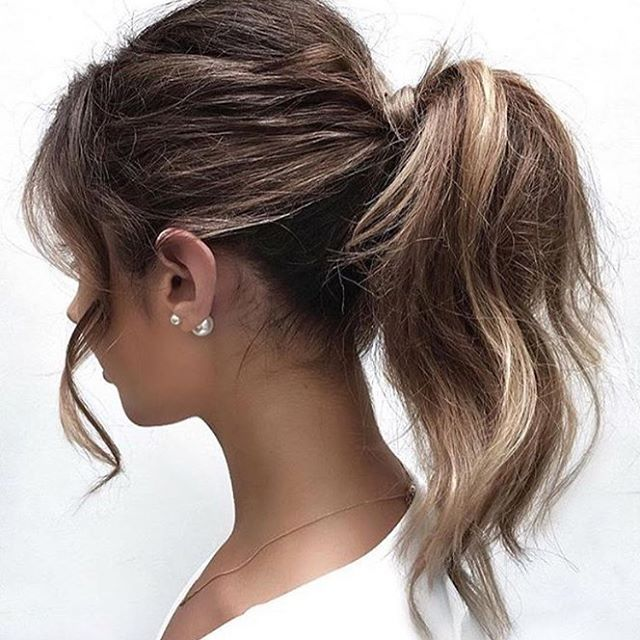 Casual Wedding Hairstyles: >> Perfect Little Party Pony On @friendinfashion