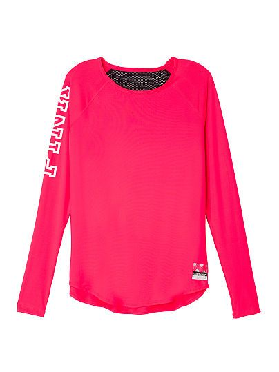 Mesh Back Long Sleeve - PINK - Victoria's Secret | Victoria's ...