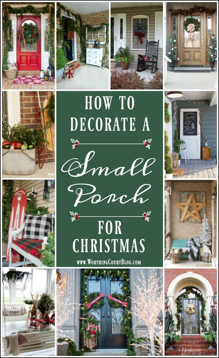 How To Decorate A Small Porch For Christmas #smallporchdecorating