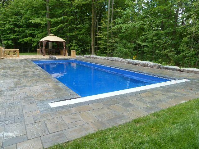 Double Infinity Edge Pool Design Pool Cover Rectangular Pool Swimming Pools