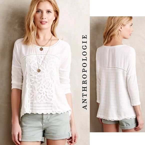 Anthropologie Tops - NWOT ANTHRO Tayrona Lace Top, by Meadow Rue