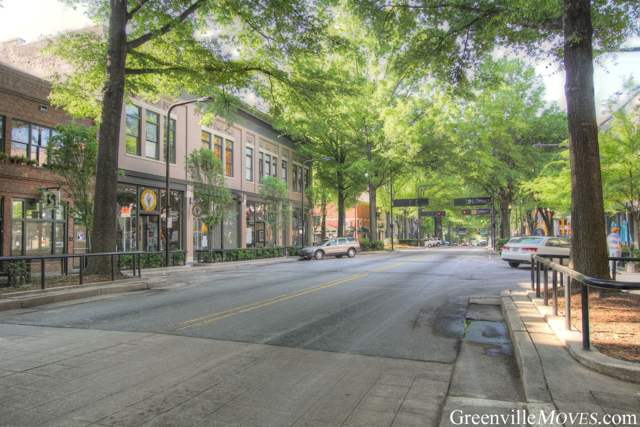 Downtown Greenville, SC N. Main St at Coffee St near