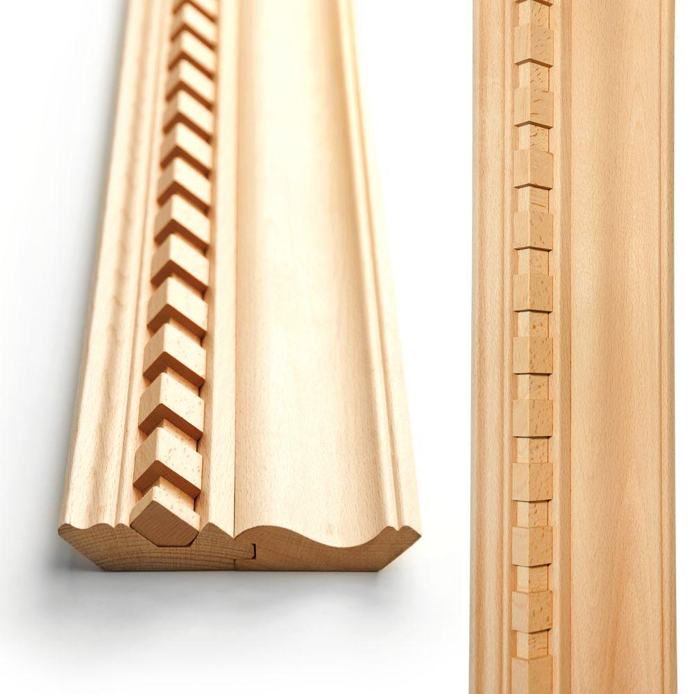 Decorative wood cornice. width: 137 mm. Thickness: 32 mm. | Wood ...