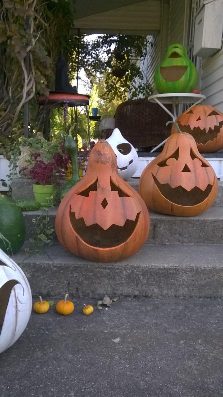 Extra Large Jack O Lantern Pumpkin Gourd Halloween Art Outdoor Etsy Jack O Lantern Halloween Art Cute Pumpkin