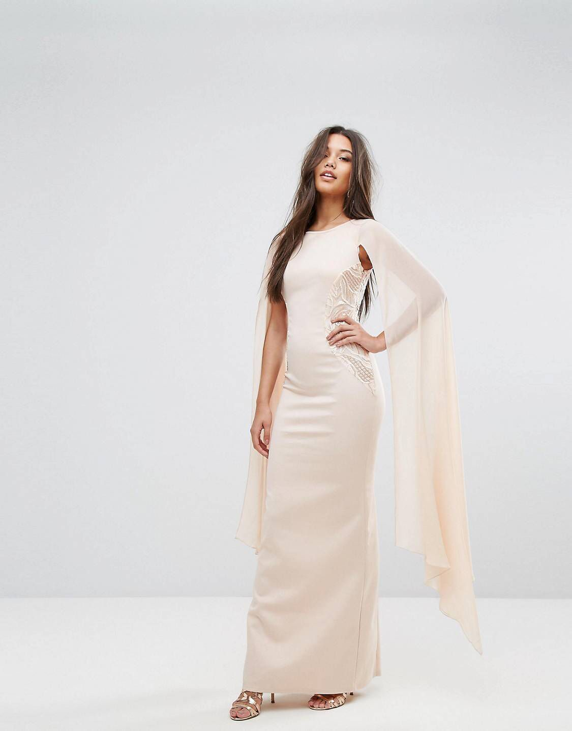 38299cb363 Lipsy Cape Detail Maxi Dress