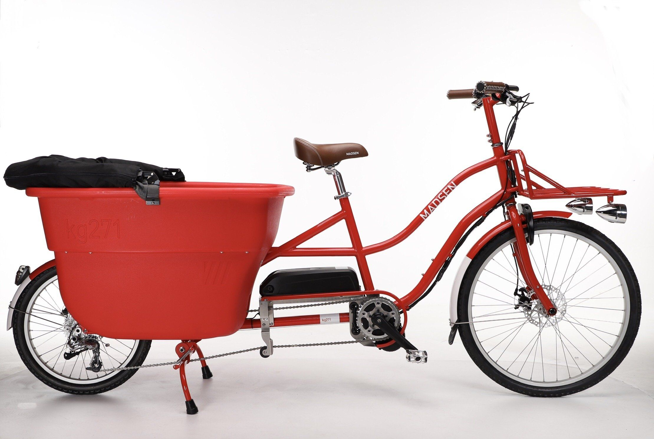 Electric Madsen 2020 Candy Apple Red Fully Loaded Cargo Bike