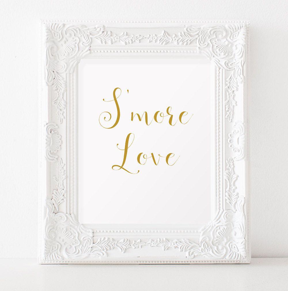Smore love Smores wedding favors sign INSTANT DOWNLOAD Dessert table ...