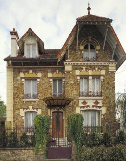 Meulière house. | Façades meuliere | Pinterest | Architecture ...