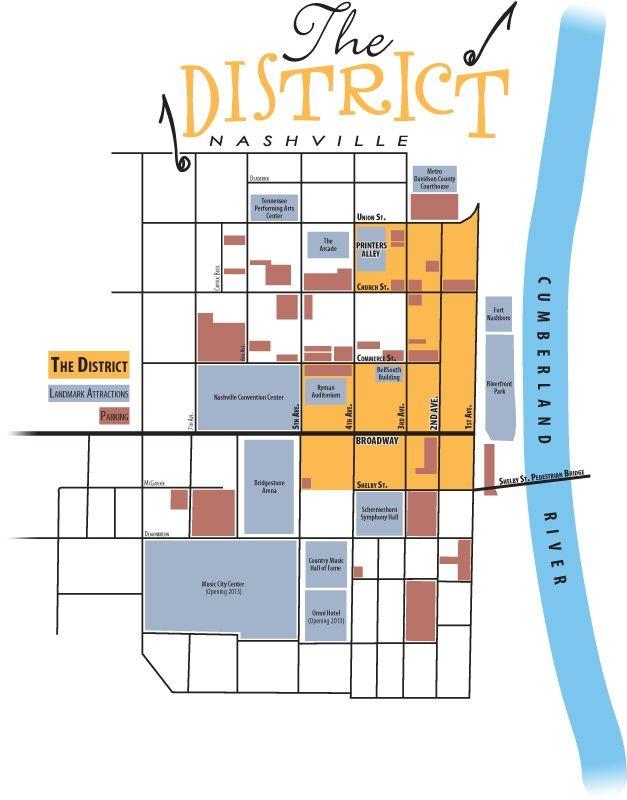 Things I've Done In Nashville 2nd Avenue Printers Alley: Map Of Downtown Nashville Hotels At Slyspyder.com