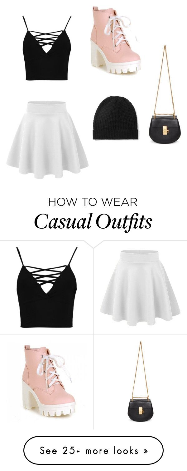 """""""Casual"""" by kelsiepitcher on Polyvore featuring Boohoo, Chloé and Madeleine Thompson"""