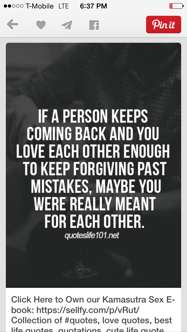 Nah! Sometimes love isn\'t enough. | Let\'s put some distance ...