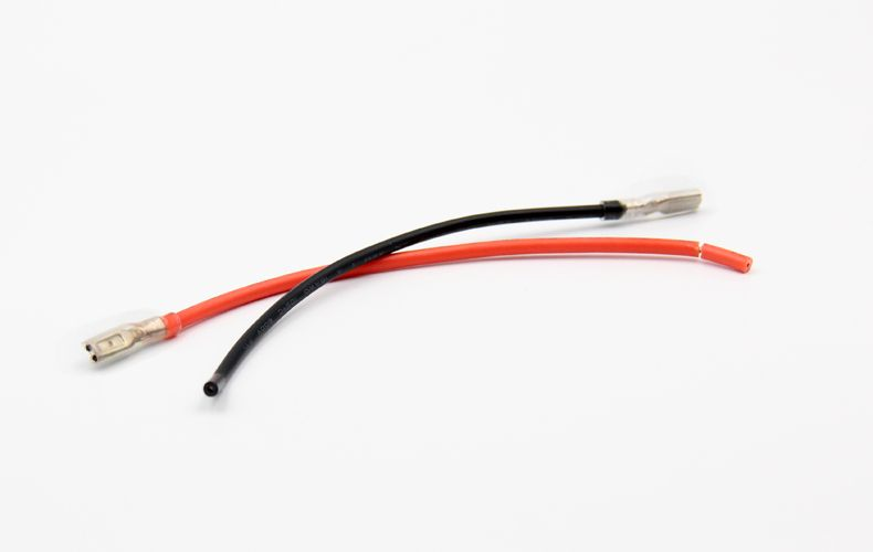 25Pairs 2.8mm Female Spade Crimp Terminals Wire 20CM AWM